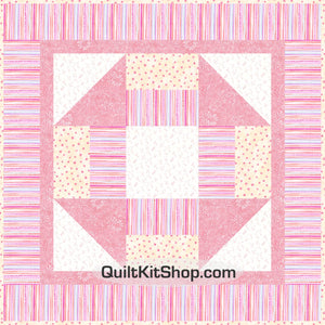 Caroline Pink Pre-Cut Baby Quilt Top Kit