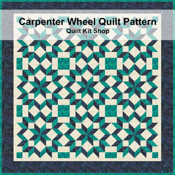 Carpenter Wheel Quilt Pattern PDF