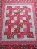 Cats Pink Quilt Top + Binding