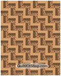 Chestnut Maze PreCut 20 Block Quilt Kit