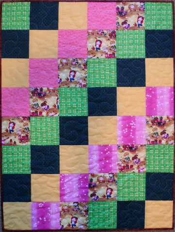 Children at Play Finished Baby Crib Quilt