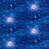 Moons Stars Blue Elizabeth's Studio Fabric