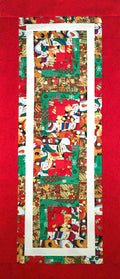 Christmas Collage Table Runner Quilt Top