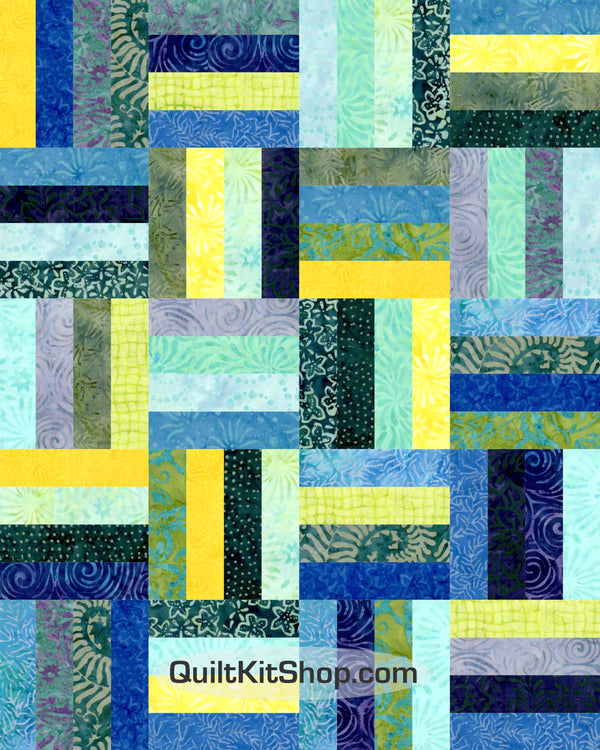 Coastal Batik Easy PreCut 20 Block Quilt Kit