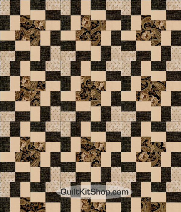 Coffee n Cream PreCut 36 x 42 Quilt Kit