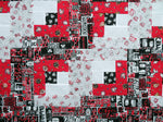 Coffee Red Black Table Runner Unfurnished Quilt Top