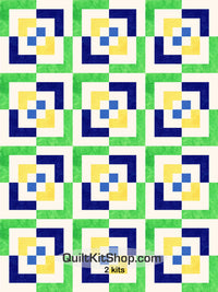 Color Blast Pre-Cut 24 Block Quilt Kit