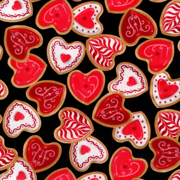 Confections Heart Cookie Black