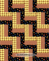 Construction Zone PreCut 20 Block Quilt Kit