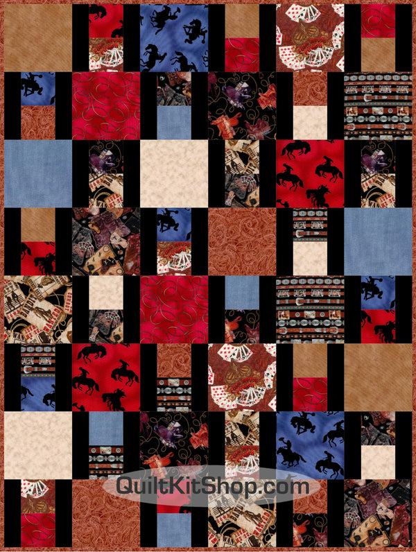 Cowboy Country Western Quilt Kit