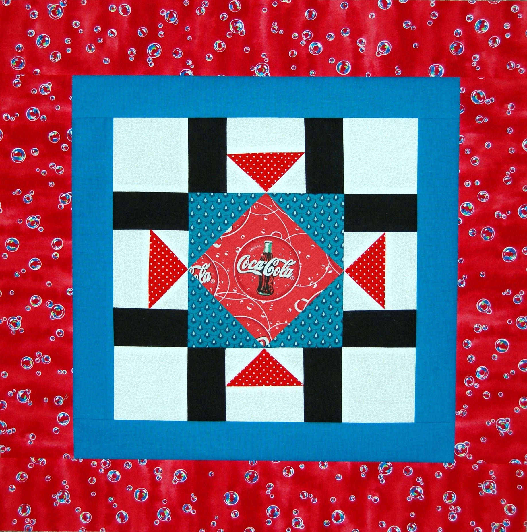 Soda Bottle Quilt Top Topper