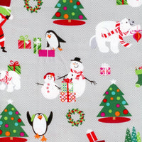 Dear Santa Snowman Tree Toss Gray