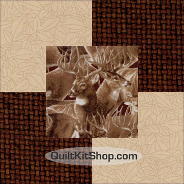 Deer Woodland PreCut 12 Block Quilt Kit