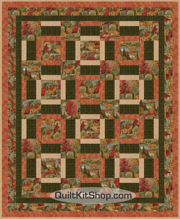 Outpost Deer in Nature PreCut Quilt Kit