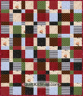 Delightful Cats Semi-Cut Quilt Kit