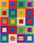 Dog Happy PreCut 20 Block Quilt Kit