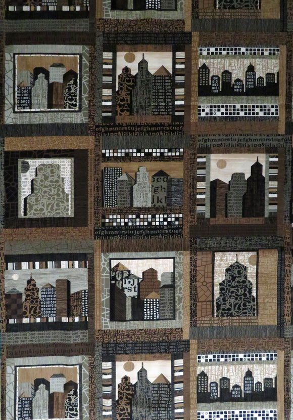 Downtown City Scapes Fabric Panel P&B Textiles