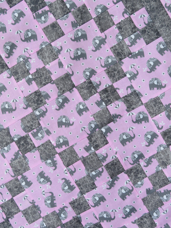 Elephant Pink Quilt Top