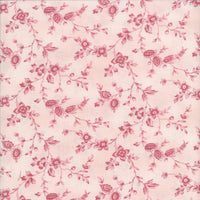 Elm Creek Annekes Floral Pink Red Rooster Fabric