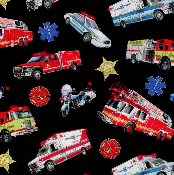 Emergency Rescue Vehicles Elizabeth's Studio Fabric