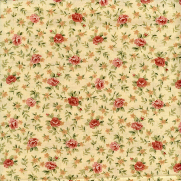Enchantment Rose Yellow Red Rooster Fabric