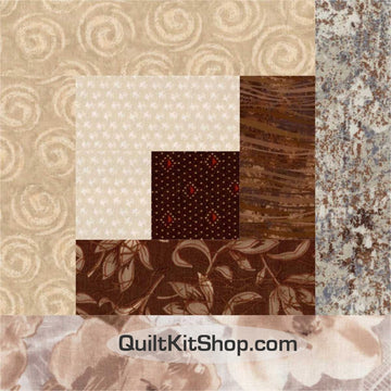 Expressions Evening Brown PreCut Quilt Block Kit