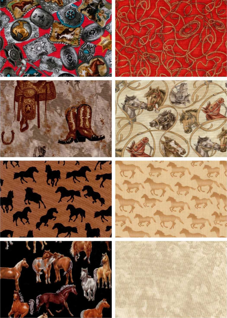 Cross Christian Western Horse Pre-Cut Throw Quilt Kit