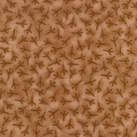 Feather Your Nest Bird Tracks Brown Clothworks Fabric