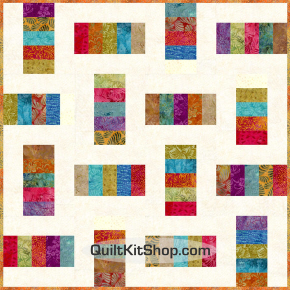 Fire Ramble Batik 40x40 PreCut Quilt Kit