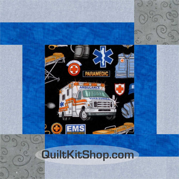 First Responder PreCut 12 Large Block Quilt Kit