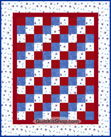 First Mate Teddy Bear Ship PreCut Quilt Kit