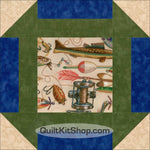 Fishing Tackle Quilt Block Kit