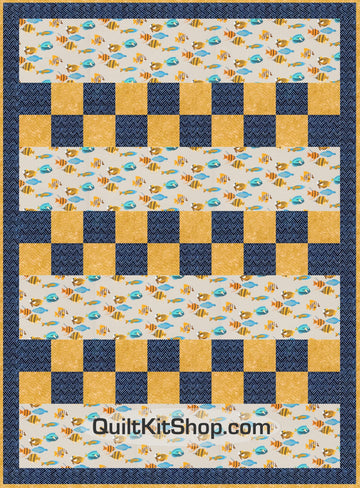 Fishtopia Easy PreCut Quilt Kit