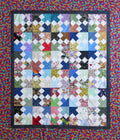 Garden Roads Handmade Unfinished Quilt Top
