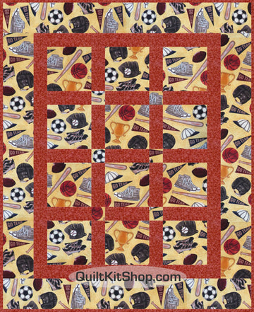 Go Team PreCut Quilt Kit