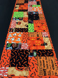Quilted Table Runner Halloween Happy Handmade