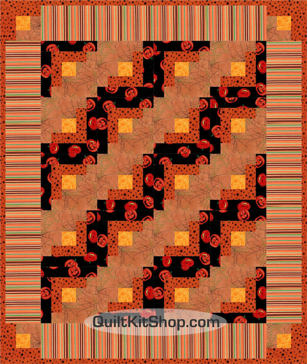Halloween Nights PreCut Quilt Kit