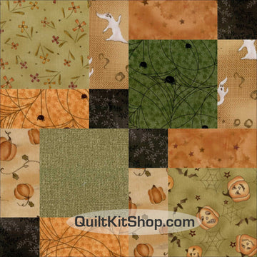 Haunted Hallow Pre-Cut 12 Block Quilt Kit