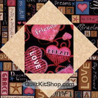 Healing Hearts Faith PreCut 12 Block Quilt Kit