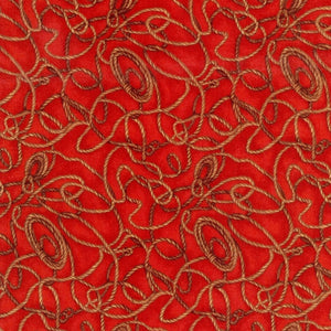 Home on the Range Lasso Rope Western Red Fabric Fabri-Quilt