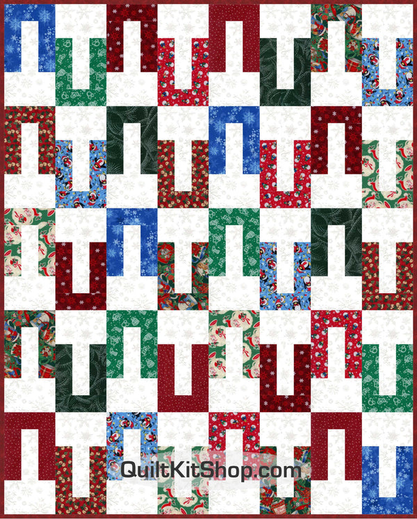 Home For Christmas Ice PreCut Quilt Kit