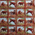 Horse Squares Panel Spectrix Fabric