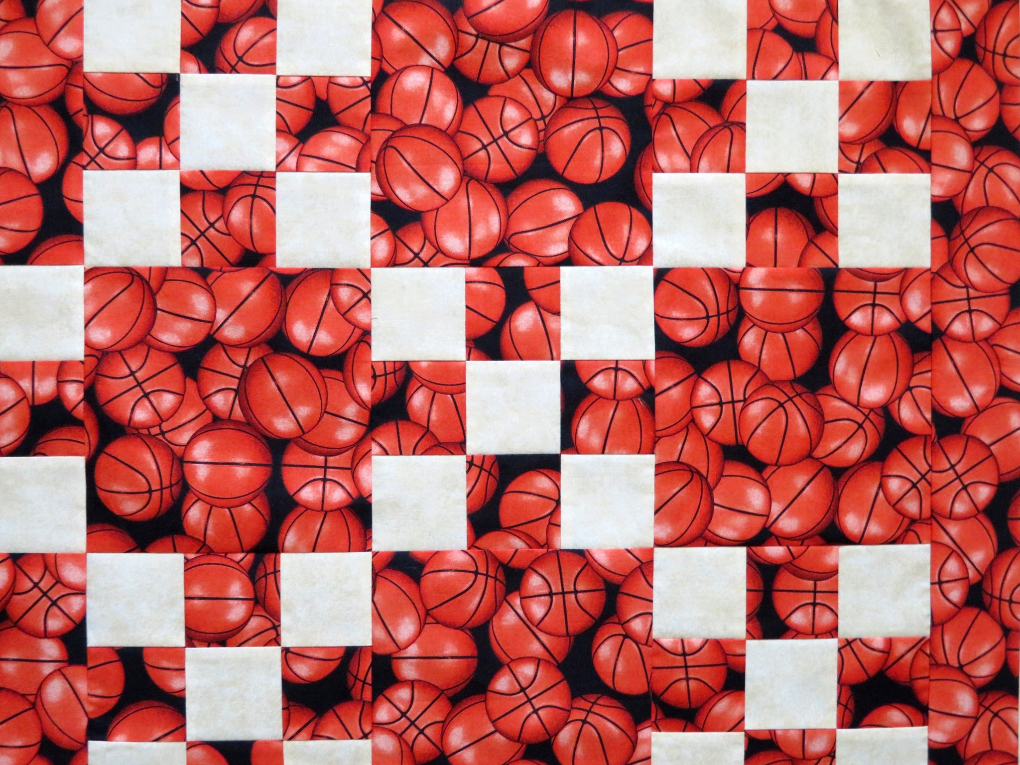 Basketball Sports Quilt Top