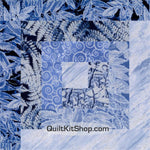 Ice Blue 53 x 71 PreCut Quilt Kit