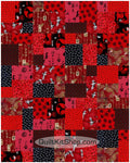 Imperial Red PreCut 20 Block Quilt Kit