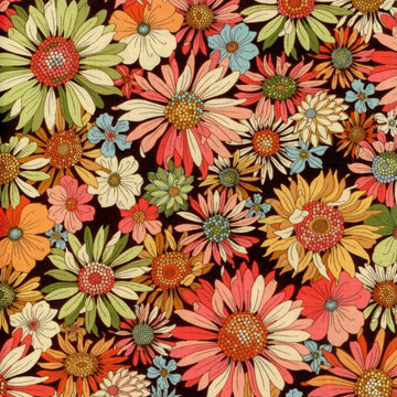 Indian Summer Flowers Benartex Fabric
