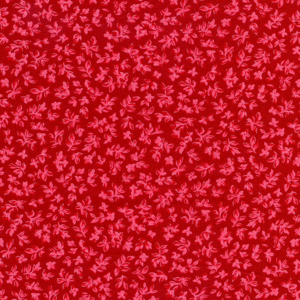 Indian Summer Leaf Tonal Red Michael Miller Fabric