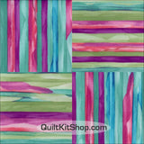 Isabella Sky Stripe Four Patch PreCut GROW Quilt Kit