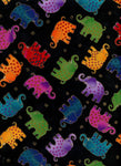Jungle Songs Elephants BTHY Fabric Laurel Burch
