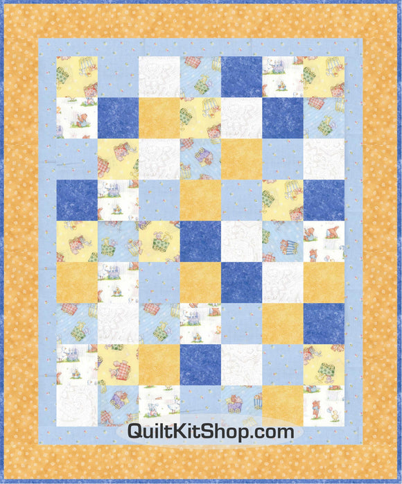 Lil Friends Train Easy PreCut Quilt Kit